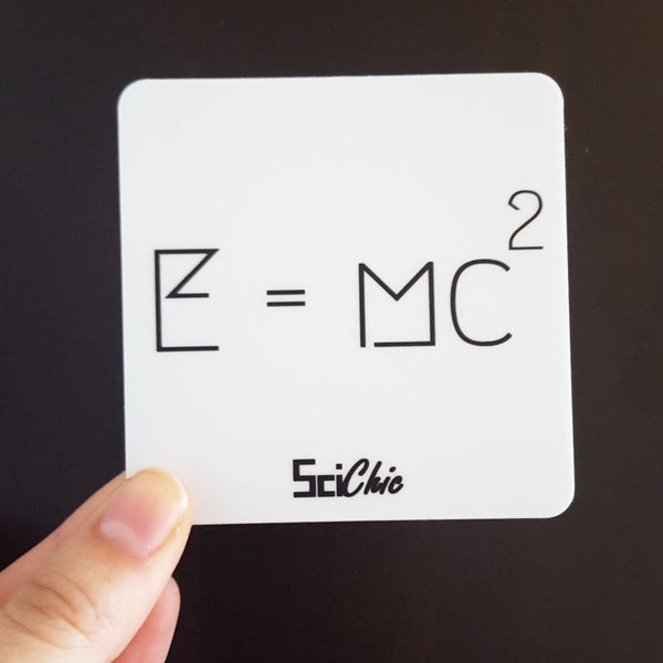 E=mc2 Vinyl Sticker
