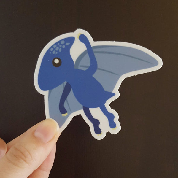Flying Dino Vinyl Sticker