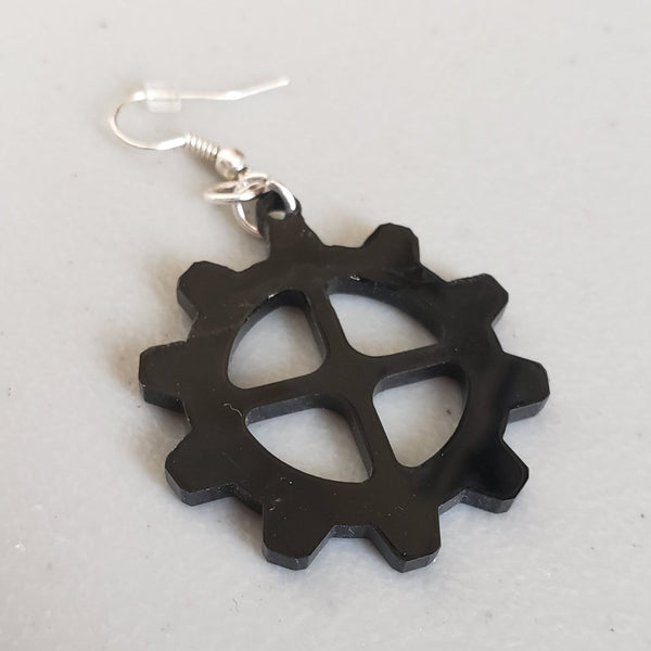 Laser Cut Gear Earrings