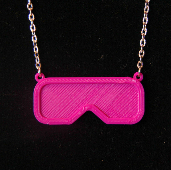 safety glasses necklace science jewelry science necklace sci chic 3d printed safety glasses jewelry