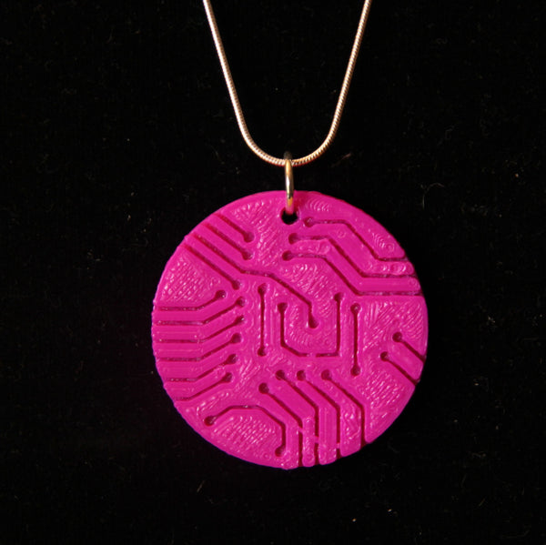 Plastic 3D Printed Circuit Board Necklace Science Jewelry Engineering Jewelry