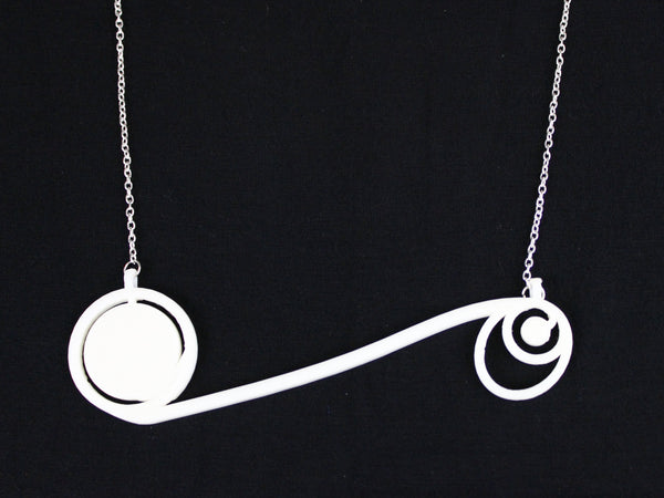 Apollo 11 Moon Mission Jewelry Necklace 3D Printed Science Jewelry