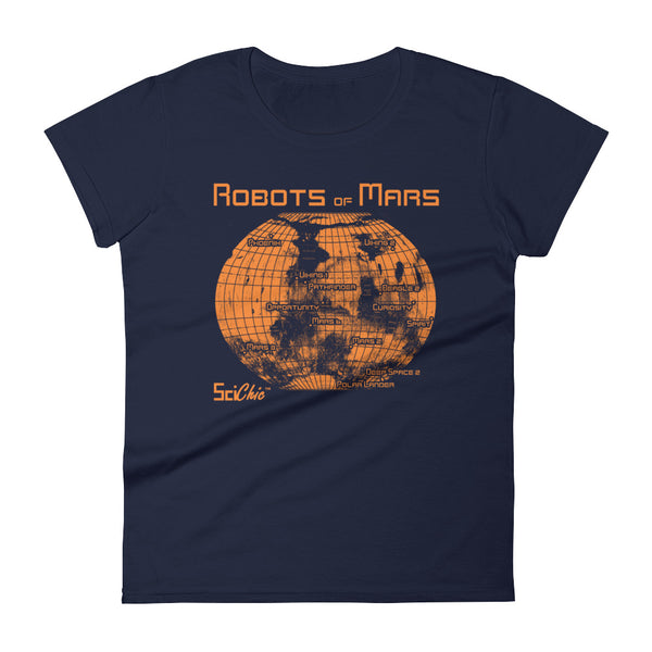 Robots of Mars fitted short sleeve t-shirt