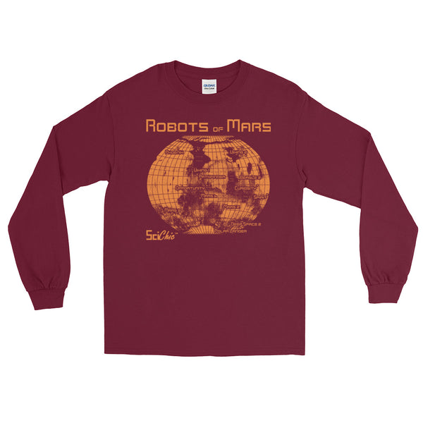 Robots of Mars Long Sleeve T-Shirt