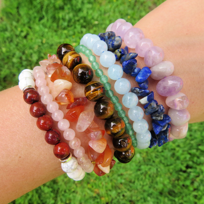 Crystal & Beaded Stone Bracelets
