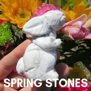 Spring Stones - White Crystal Rabbit