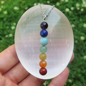 7 Chakra Necklace | Beaded Stone Chakra Crystal Necklace
