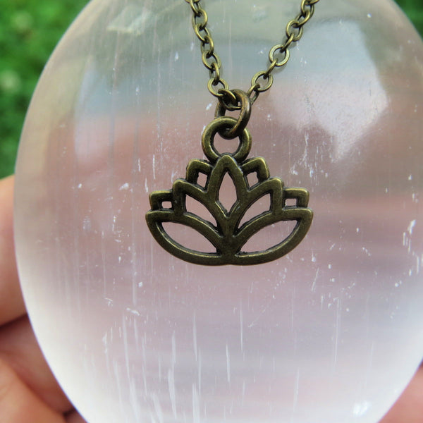 Brass Lotus Flower Necklace