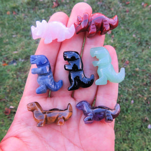 "Carved Crystal Dinosaur Figurines - Mini 1"" Stones"