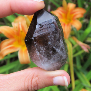 Double Terminated Smoky Quartz Crystal Point