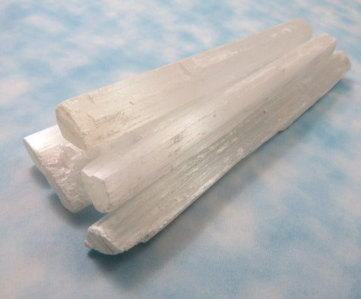 Selenite Wand Crystal - Side