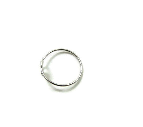 Sterling Silver Crescent Moon Ring | Half Moon Jewelry