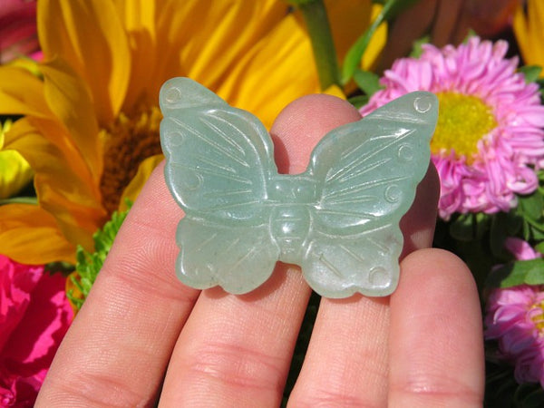 Carved Aventurine Stone Butterfly