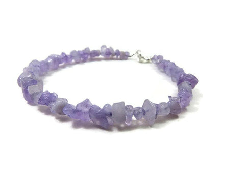 Purple Jade Crystal Anklet