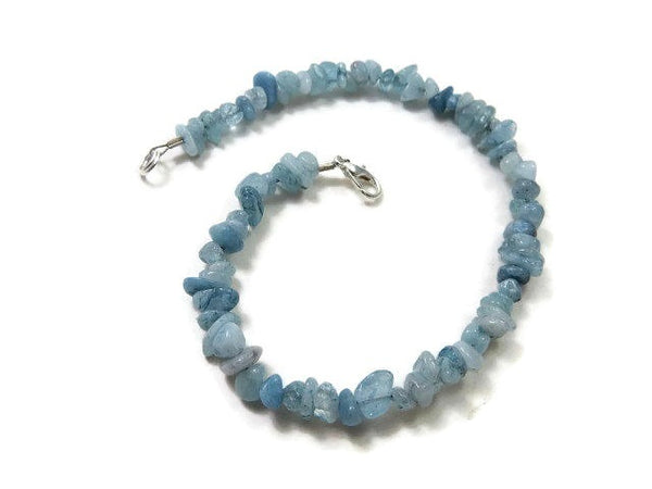 Blue Aquamarine Crystal Anklet - Clasp