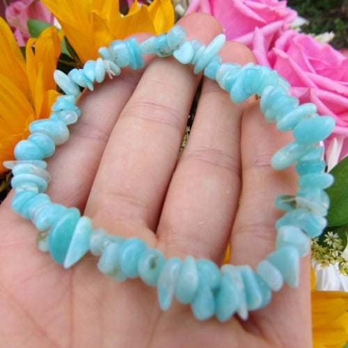 Blue Amazonite Crystal Bracelet