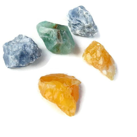 Raw Calcite Stone | Blue, Green, & Orange Calcite Crystal