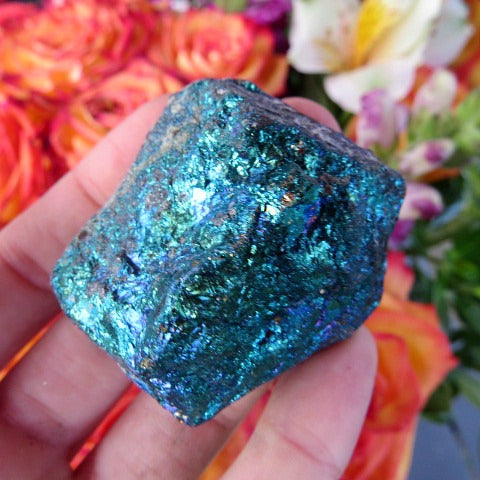 Peacock Ore Crystal - Chalcopyrite Stone