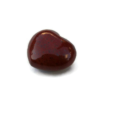 Red Jasper Crystal Heart Stone