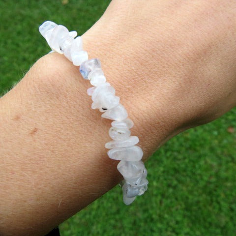 Rainbow Moonstone Crystal Bracelet