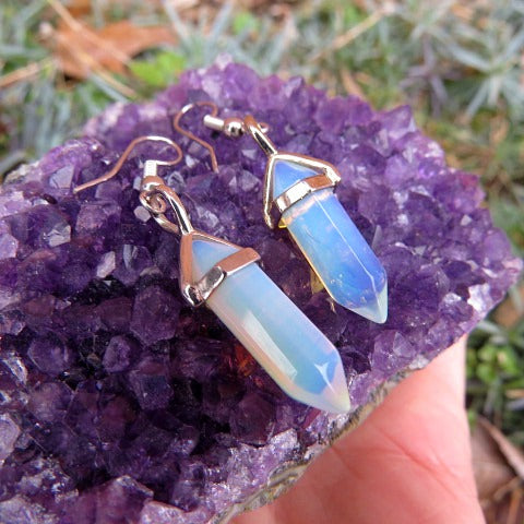 Opalite Crystal Earrings
