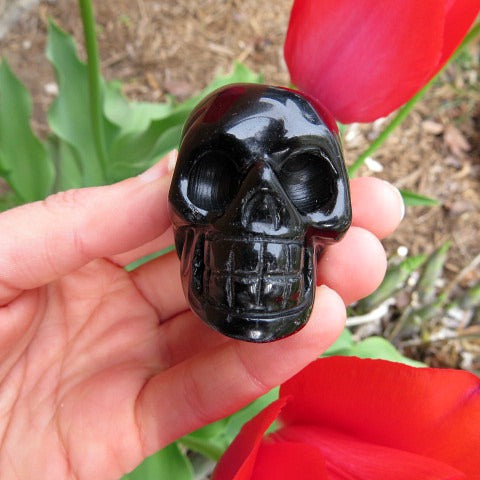 Black Obsidian Carved Crystal Skull