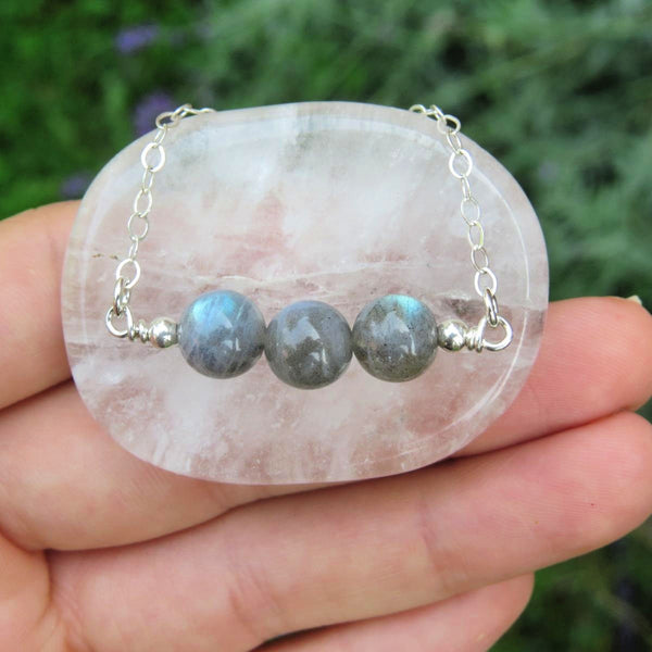 Beaded Stone Labradorite Necklace