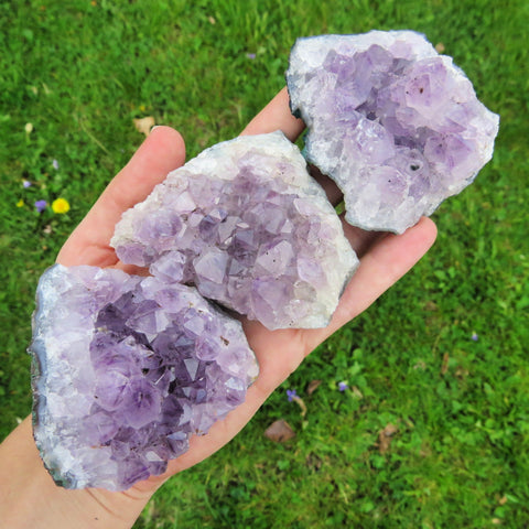 "Large Raw Amethyst Cluster 2.5"" Purple Amethyst Crystals"