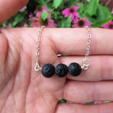 Lava Stone Diffuser Necklace for Essential Oil Aromatherapy