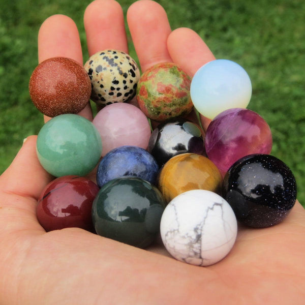 Mini Crystal Balls - Gemstone Sphere - Crystal Marbles