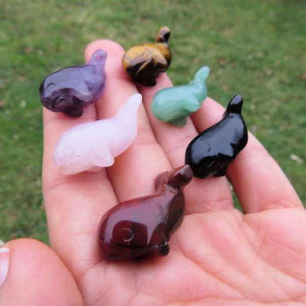 Mini Crystal Whale Figurine 1"