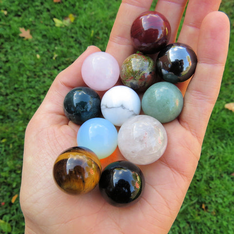 Mini Crystal Balls - Gemstone Spheres