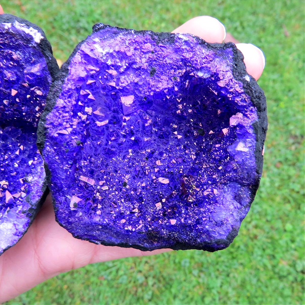 Purple Geode Set - Whole Cracked Geode