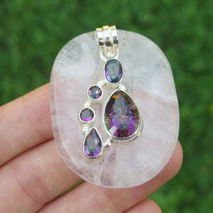Rainbow Topaz Pendant Sterling Silver
