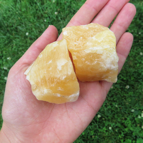 Orange Calcite Stone Crystal Chunk