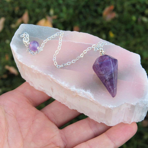Crystal Dowsing Pendulum for Divination | Mini Stone Pendulum