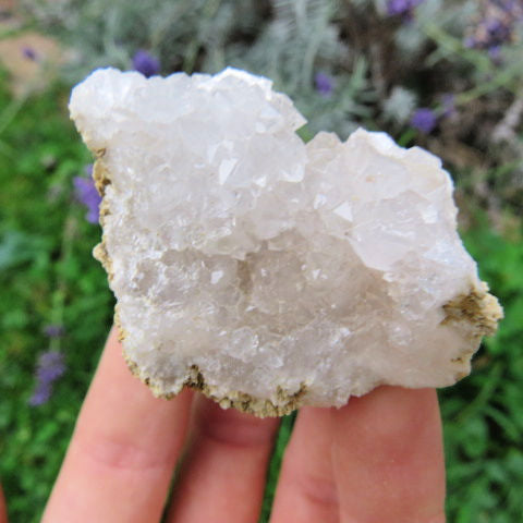 White Druzy Quartz Geode Crystals