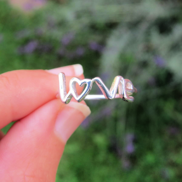 Sterling Silver Love Band Ring