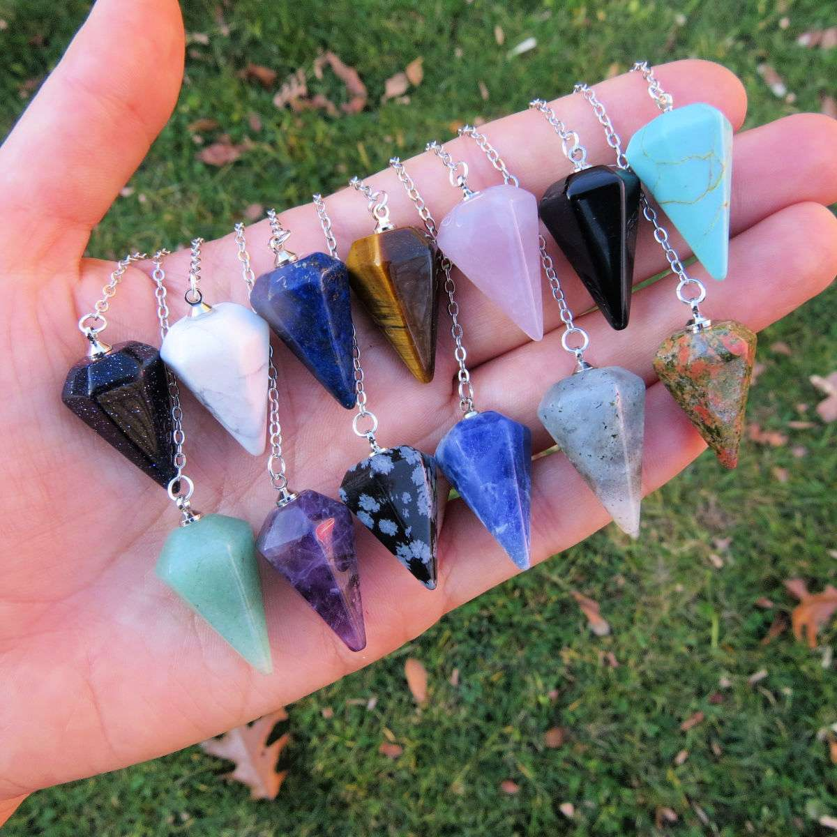 Crystal Pendulums for Divination - Small Stone Pendulum
