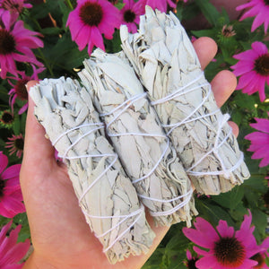 White Sage Bundle Smudge Stick 4""