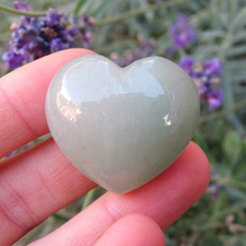 Green Aventurine Puffy Crystal Heart