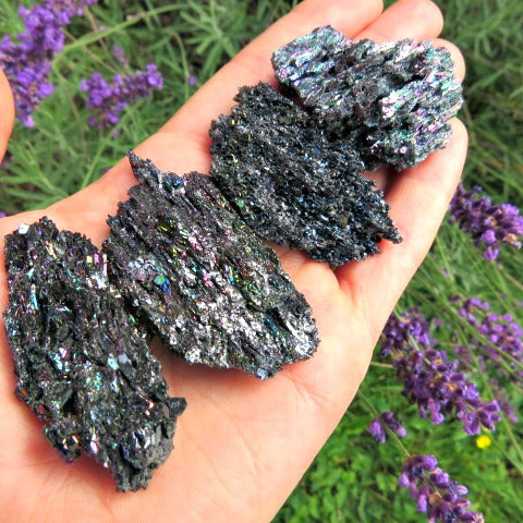 Carborundum Crystal - Black Rainbow Stone