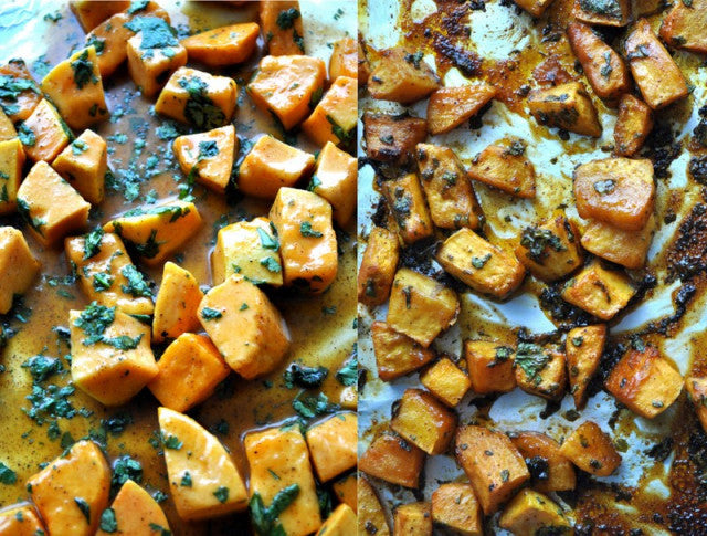 Featured Recipe 2/1/17:   Cilantro-Honey Roasted Butternut Squash