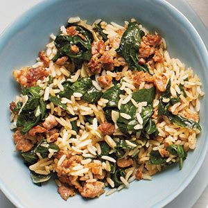 Featured Recipe 2/15/17: Sausage Spinach Rice Bowl