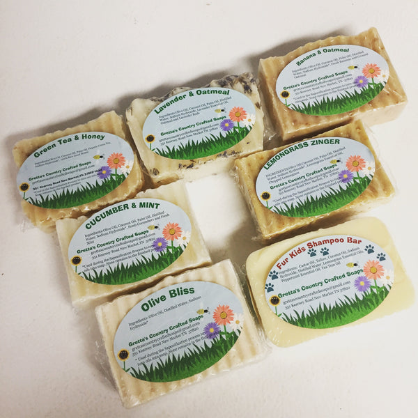 Soap & Bath: Gretta's Country Crafted Essential Oil Soaps (assorted scents)