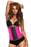 9 Steel Boned Pink Latex Waist Cincher