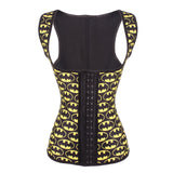 9 STEEL BONED BATMAN LATEX WAIST TRAINER VEST WITH