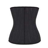 Latex Waist Trainer 25 Steel Bone Zip and Clip Waist Training Underbust Corset