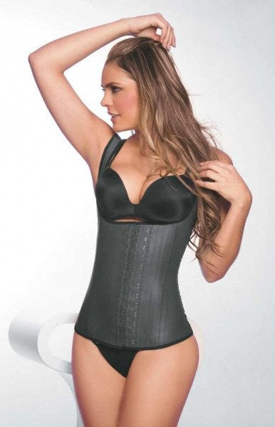 9 Steel Boned Latex Waist Trainer Vest With Straps