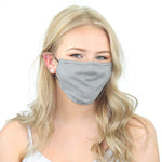 Reusable Cloth Face Mask with PM2.5 Filter and Nose Bridge